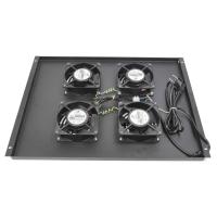 Вентиляторный модуль для шкафов серии EC до 800мм глубиной. 4 вентилятора, черный, RP-ECFAN-4-BK