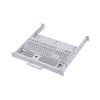 """Ящик 19"""" выдвижной CLM-912 с клавиатурой (GER/ENG) + TRACKBALL, универсальный, белый"""