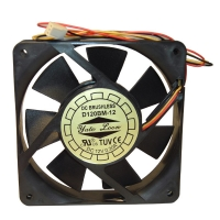 Вентилятор для корпуса 120х120х25мм, 3пин, подшипник качения, 121225-BT