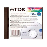 Диск CD-RW TDK 650MB 10X