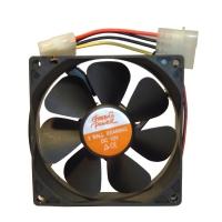 Вентилятор для корпуса 92х92х25мм, 4пин Molex, 12V, подшипник качения, 120925-B, OEM