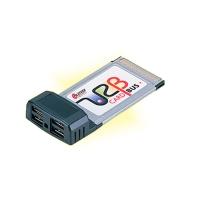 КОНТРОЛЛЕР USB 2.0 CARDBUS (PCMCIA CARD) PILOTECH U058 -01 4 PORT USB 2.0  CARDBUS