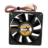Вентилятор для корпуса 70х70х15мм, 3пин, 3000RPM, 28Db, 25Cfm, керамический подшипник, MS-7015