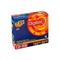 Диск CD-RW DIGITEX 700MB 4X 10 PCS