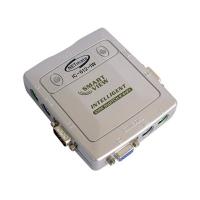 Переключатель KVM IC IC-612-I KVM Switch 2 порта, пластиковый корпус, кабели в комплекте