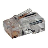 Вилка-разъем RJ-45, категория 5e, универсальная (для одножильного/многожильного кабеля)