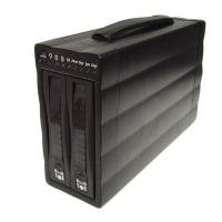 """Внешний корпус 3.5"""" (USB2.0 + FIREWIRE) на 2 диска ST-2320 S/UFR RAID 0 (для SATA HDD)"""