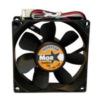 Вентилятор для корпуса 80х80х20мм, 3пин, керамический подшипник, CERAMIC FAN, MS-8020