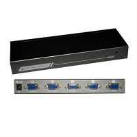 Видео разветвитель  VGA 1 --- 4 монитора OXCA VSV-104, metal housing, 250 Mhz, 2048x1536 @75Hz