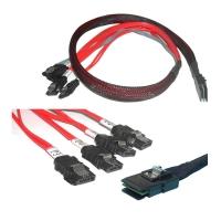 Кабель Mini SAS Cable, SFF-8087 - 4xSATA backplane, reverse cable, длина 1 метр, SAS-030, Negorack