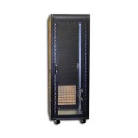 """Серверный шкаф 19"""" 24U CLM-2168-24B (600x800x1320) стекл. передн. дверь, охлажд. задн. дверь черный"""