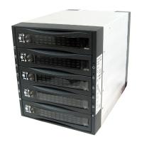 """Корзина MOBILE RACK SAS/SATA METALL ST-3051 5 HDD занимает 3*5.25"""", черная"""