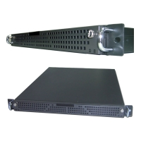 "Сервер 1U для монтажа в стойку 19"" Core2Duo 2.7GHz/4GB/SATAII 2*320Gb Raid 0,1/Lan 1Gbe/DVD-RW"