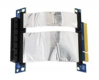 Ризер 1U PCI-express x8 Single Slot Flex Riser Card  на шлейфе 10см, (NR-RC8xF)
