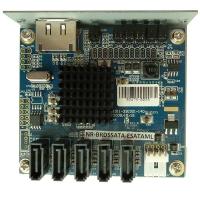 Концентратор 1 ESATA to 5 SATA port Multiplier (SiI3726 Chip), NR-BRD5SATA-ESATAML, Negorack