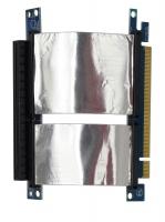 Ризер 1U PCI-express x16 Single Slot Flex Riser Card  на шлейфе 10см, экранированный, NR-RC16xFS