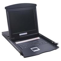 """Консоль 1U NR-MDR2908UDL, 19"""" TFT, 8 портов KVM, Монитор, клавиатура, тачпад, кабели 8шт., Negorack"""