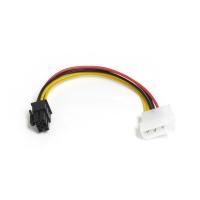 Переходник питания для видеокарты,  4pin (Molex) на 6pin,  длина 18см, CBL-038, Negorack
