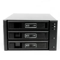 "Корзина NR-BP23SS 2x5,25"" с функцией ""горячей замены"" для 3х3.5"" SAS/SATA HDD,металл,черная,Negorack"