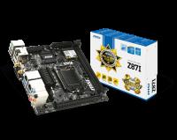 Материнская плата MSI Z87I Socket 1150 MiniITX 2xDDR3, HDMI, DVI, DP/7.1CH/USB3.0, Lan 2x1Gb