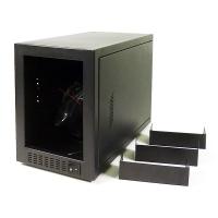 "Корпус дубликатора CD/DVD на 5 мест (5x5.25"" внеш, 1х3.5"" внутр), БП 400Вт, мод A-05, черный, уценка"