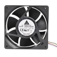 Вентилятор для корпуса 120х120х38мм, 4пин, 12V, 1.6A, 3900RPM, 53dBa, 151CFM, AFB1212SHE, Delta