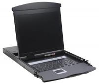 """Консоль 1U NR-MDR2708UDL rev2, 17"""" ЖК, 8 портов KVM, клавиатура, тачпад, кабели 8шт, Negorack"""