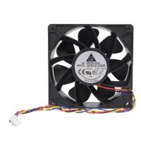 Вентилятор для корпуса 120х120х38мм, 4пин, 12V, 2.7A, 5600RPM, 64dBa, 210CFM, QFR1212GHE, Delta